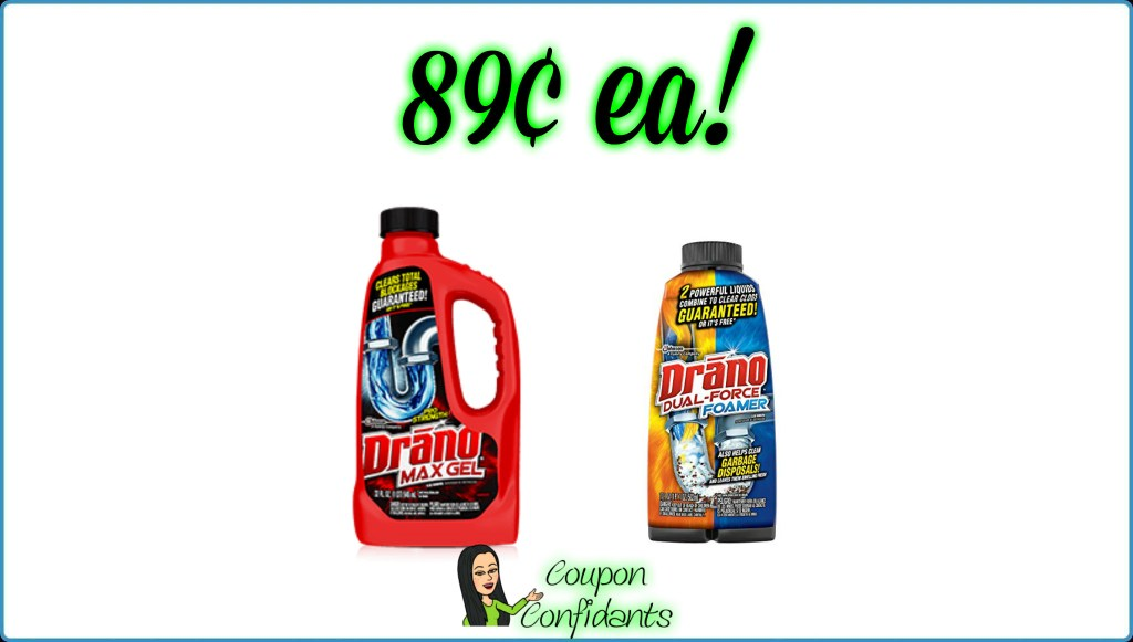 89¢ Drano Products at Publix!