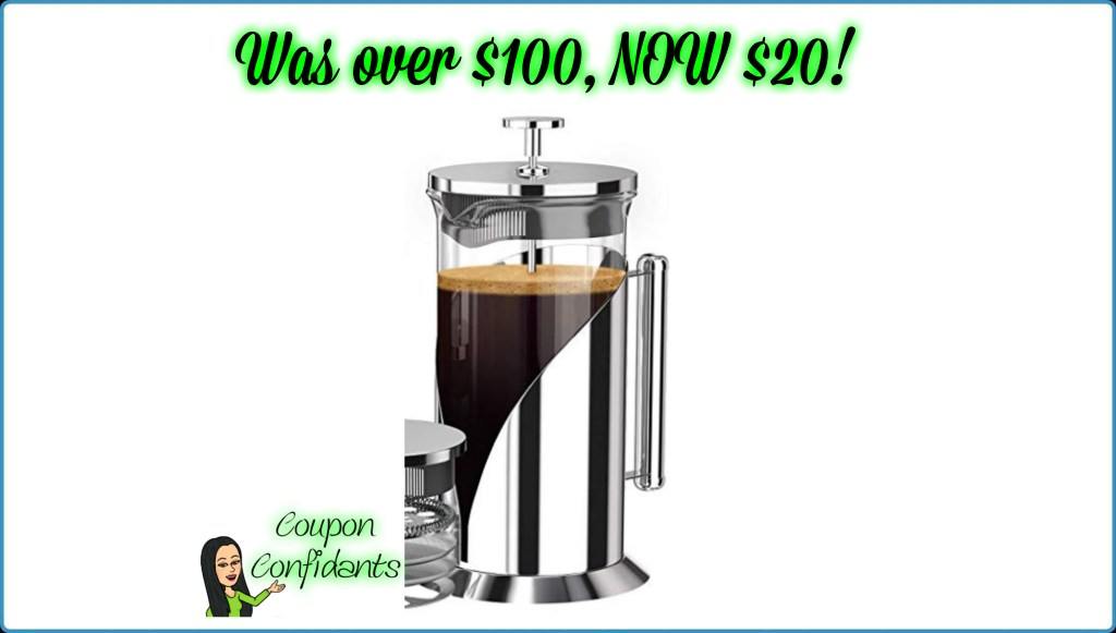 WOW!! Amazing Deal on French Press Coffee Maker!