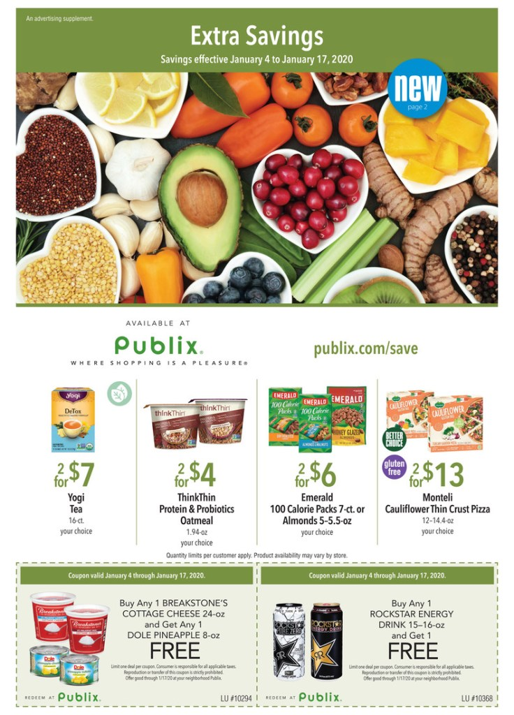 Publix Green Flyer 1/4-1/17