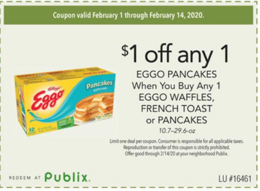 $1/1 Eggo PDF for Publix!