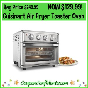 Cuisinart Air Fryer Toaster Oven Reg Price $249.99 NOW $129.99!