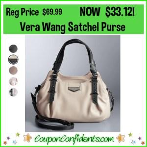 Vera Wang Satchel Purse Was $69.99 NOW $33.12!
