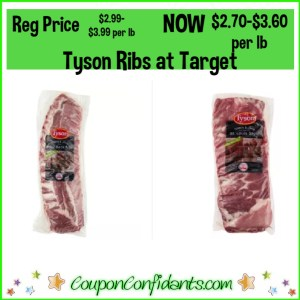 Tyson Ribs Deal at Target! All you need is your phone!
