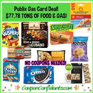 HUGE Food Gas Card Deal $77.78 for $50 Gas AND 21 items!