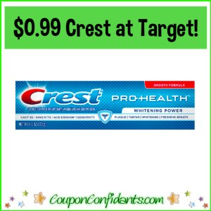 $0.99 Crest at Target! – EVERYONE can do this!