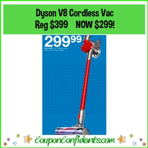 Dyson Cordless V8 Reg Price $399 NOW $299 at Target!