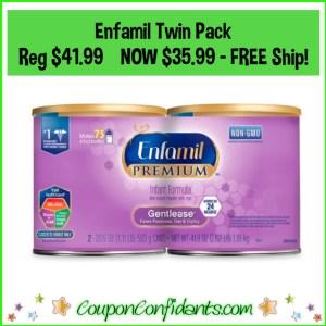 Enfamil Twin Pack  Reg $41.99 NOW $35.99 – FREE Ship!