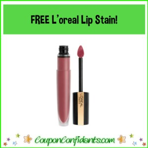 FREE L'oreal Lip Stain!