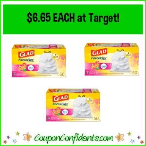 $6.65 each for Glad Trash Bags at Target!