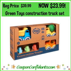 Green Toys Construction Trucks Gift Set! Reg Price $39.99 NOW $23.99!