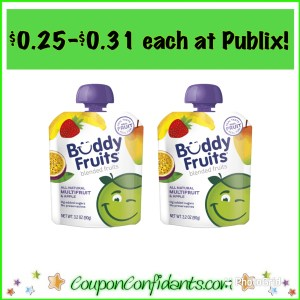 Buddy Fruits almost free at Publix!