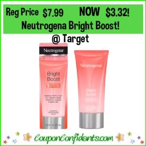 Neutrogena Bright Boost $3.32 at Target!