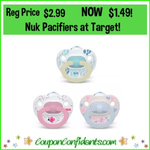 $1.49 Nuk Pacifiers at Target!