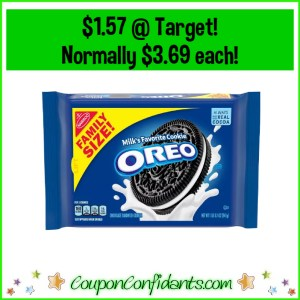 Family Size Oreo Cookies $1.57 at Target! Normally $3.69!