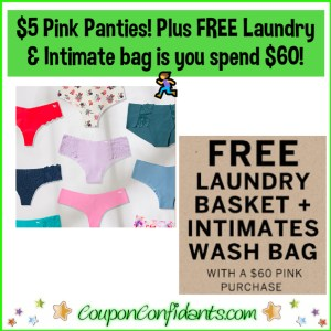 Today ONLY $5 Panties and FREE Laundry & Intimates Bag!