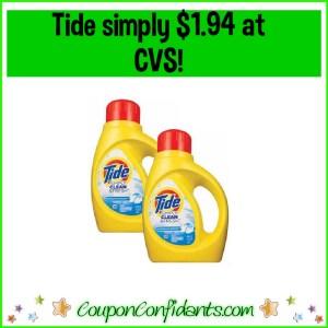 Tide Simply $1.94 at CVS!