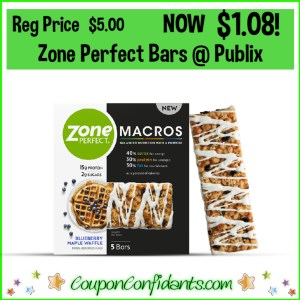 Zone Perfect Bars Normally $5 NOW $1.08 at Publix!