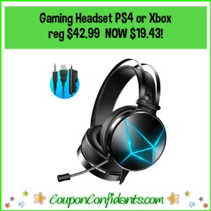 Gaming Headset PS4 or Xbox Reg $42.99 NOW $19.43!