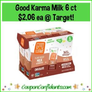 Good Karma Milk 6 ct $2.06 at Target (Reg $6.99!)