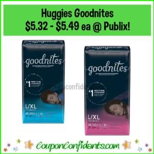 Huggies Goodnites $5.32-$5.49 each at Publix! Digital Deal!!