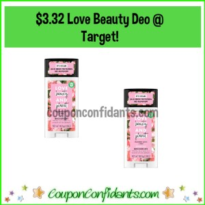 Love Beauty Deodorant at Target for $3.32 each!