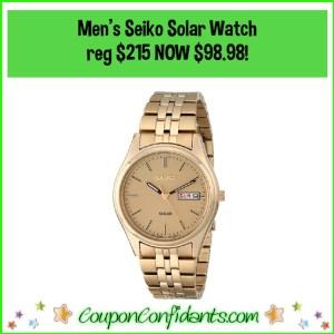 MEn's Seiko Solar Watch Reg $215 NOW $98.98!