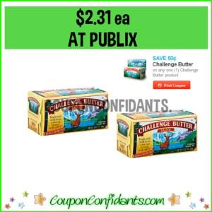 $2.31 each Challenge Butter 4 packs at Publix!