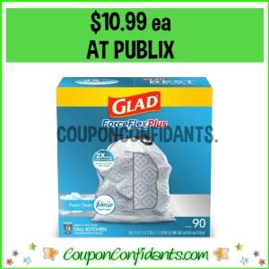 Glad Trash Bags BIG Box $10.99 at Publix