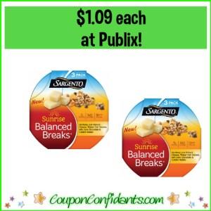 Sargento Balanced Breaks $1.09 at Publix!