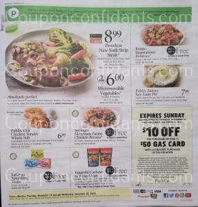 PUBLIX AD Nov 11-17 or 12-18 (Depends on where you live*)