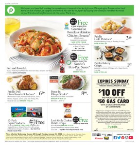 PUBLIX AD Start Date Jan 20-26 or 21-27 (Depends on where you live*)