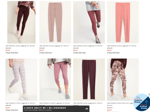 Old Navy $7 Leggings Today and Tomorrow! ($6 for girls!) 🏃🏻♀️