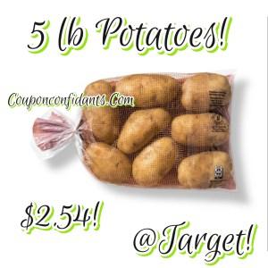 5 lb potatoes only $2.54!