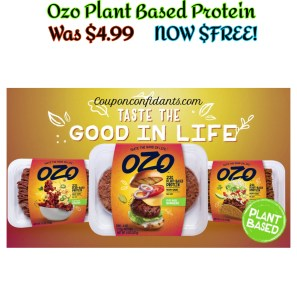 FREE OZO Plant Based Protein Beef!