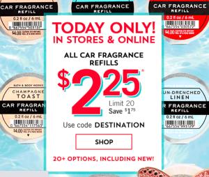 $2.25 Car Fragrance Refills – Bath and Body Works!