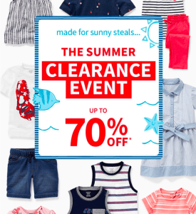 Summer Clearance Sale at Carter's!