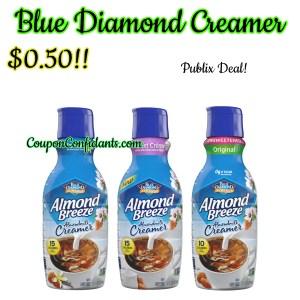 Blue diamond Creamer $0.50 at Publix!