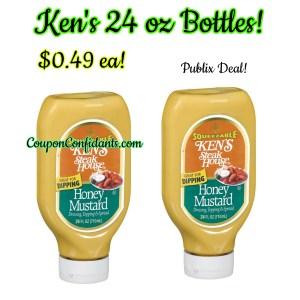 Ken's Dressings $.49 at Publix! BIG Bottles!
