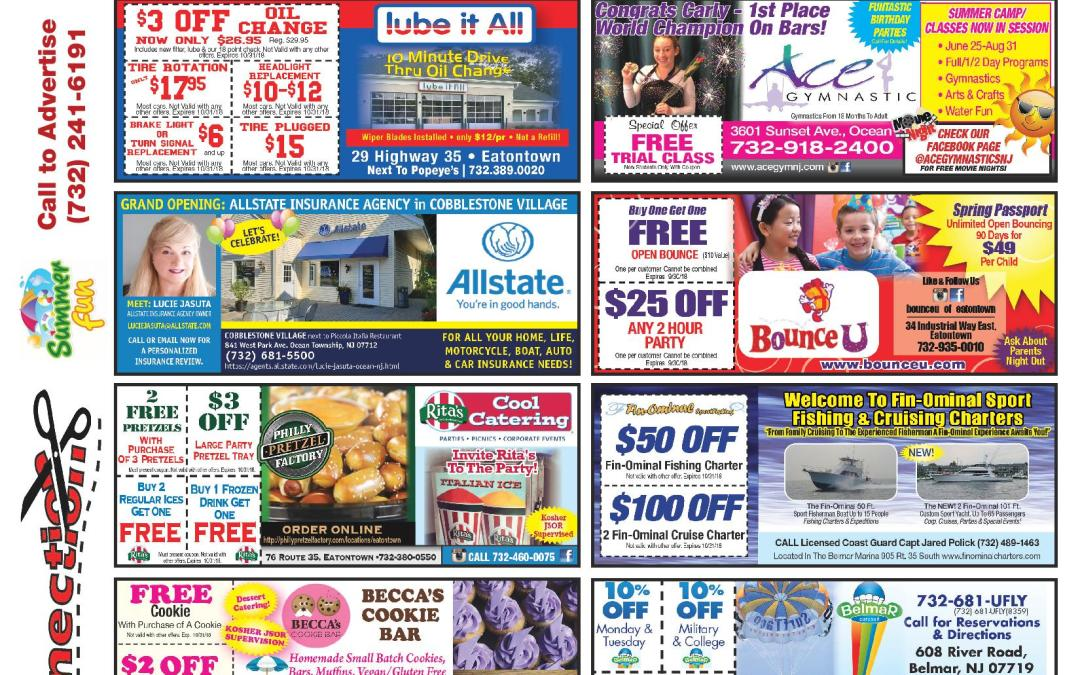 JULY/2018 COUPON CONNECTION/SUMMER FUN – Click here to see coupons