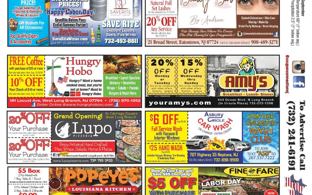 August/2019 Coupon Connection – Click Here To View Ads & Coupons