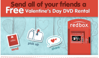 Send a Free Redbox Rental Code to Use on Valentine's Day (Facebook)