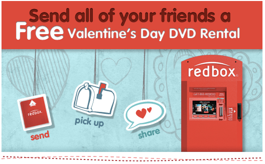 this is a fun freebie head here to the redbox valentine facebook page and send a valentine to as many friends as you choose as soon as you send the