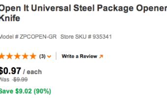 HomeDepot: Open It Universal Steel Package Opener Knife Only $0.97 (Reg. $9.99!)