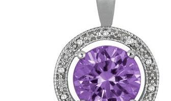 Szul Jewelry: 7 Carat Amethyst Gemstone Necklace in .925 Sterling Silver Only $38 Shipped (Reg. $339)