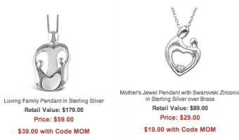 Jewelry.com: Mother's Pendants Starting at $19 + Free Shipping (Reg. $400+!)