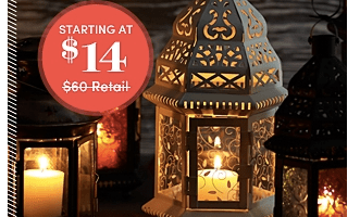 OneKingsLane.com: Lantern Sale with Decorative Lanterns Starting at $14