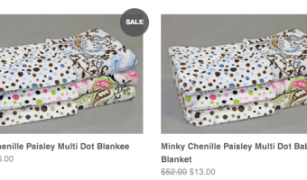 Bebe bella Designs: 75% Off Paisley Blankets and Accessories with Prices Starting at $3 Each