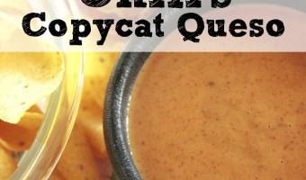 Copycat Chili's Restaurant Menu Item: Chili's Skillet Queso