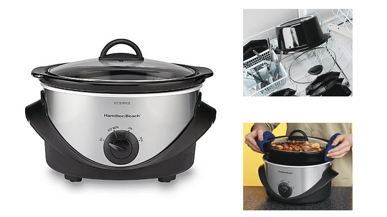 hamilton beach slow cooker on sale stainless steel crock pot only