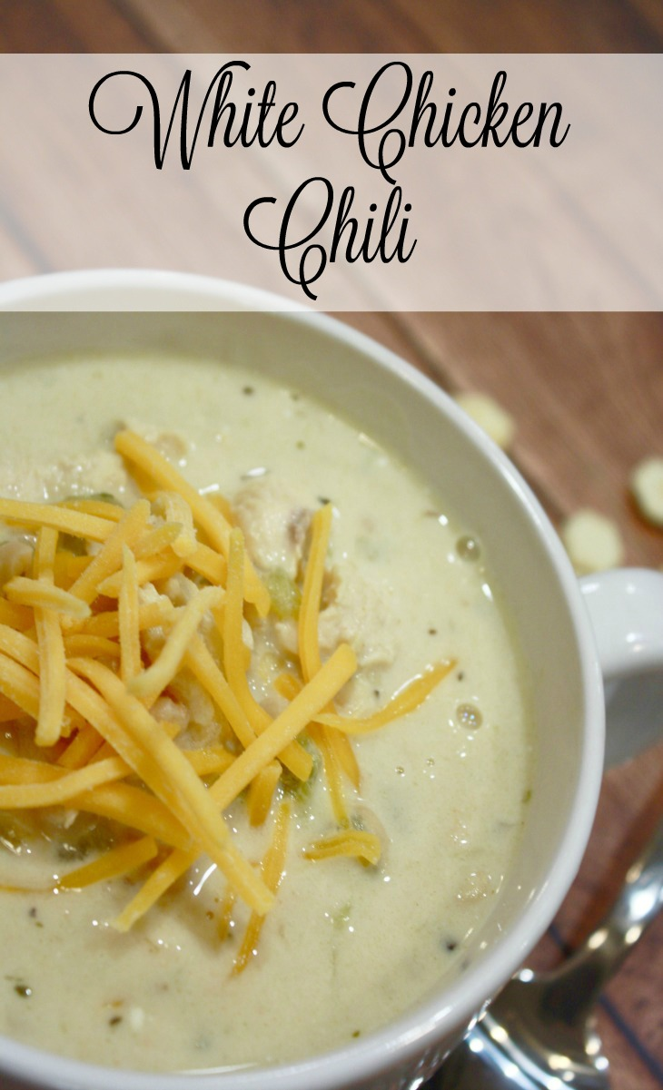 Looking for a white chili chicken recipe? This one is a HUGE fan favorite at my house and seriously so good. It's SUPER simple, too! Totally a weeknight meal option, or a great chili with chicken to simmer on the stove on a fall weekend or a winter night!
